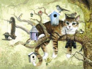 Oscar the Birdwatcher - 100 piece SunsOut Mini puzzle