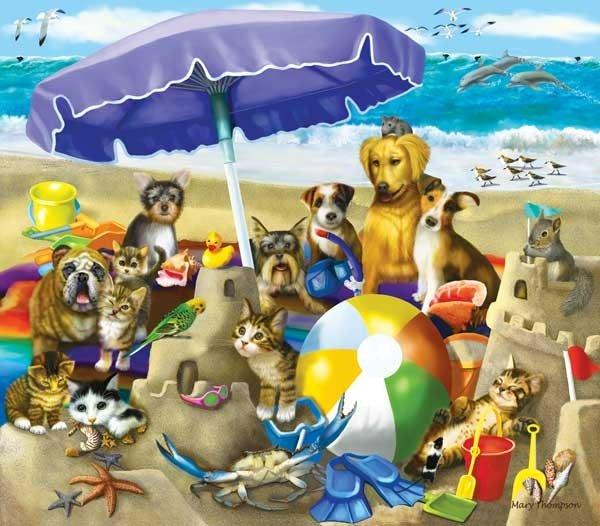 Beach Buddies - 300 piece SunsOut puzzle