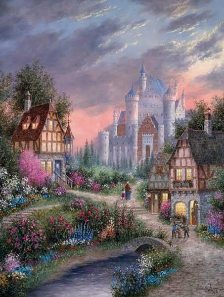 Enchanted Castle - 500 piece SunsOut puzzle - for Ages 12+