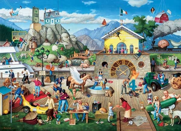Proverbidioms IV - Who Rocked the Boat - 1,500 piece SunsOut puzzle - for Ages 12+