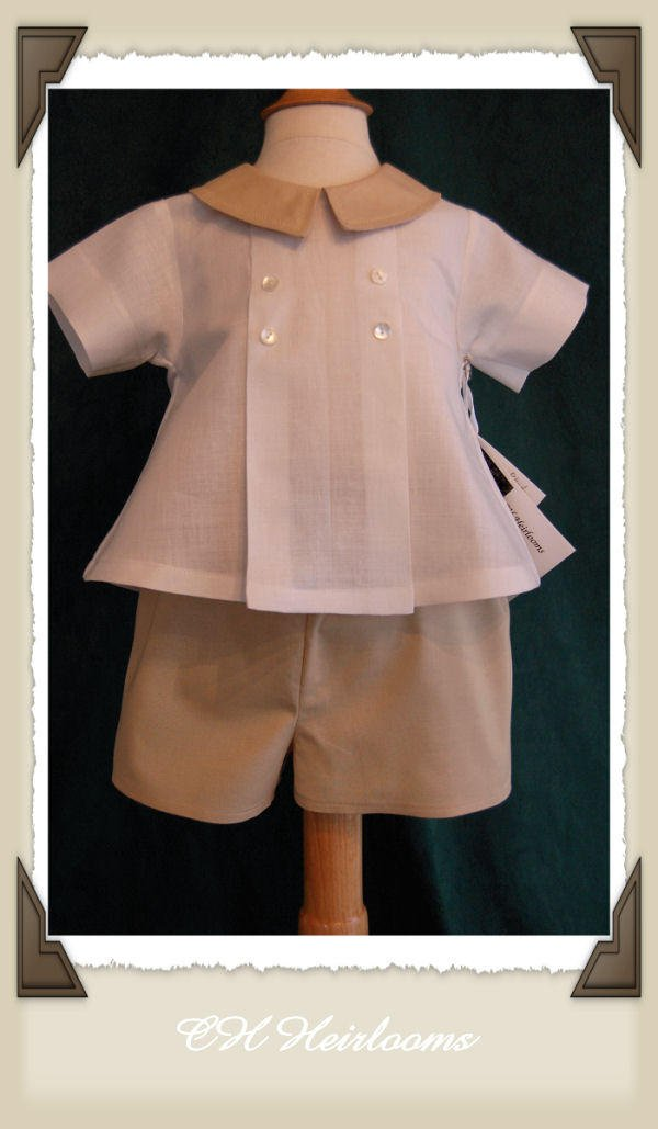 Little Gentleman Boys 2 Pc. Linen Set 12 Months