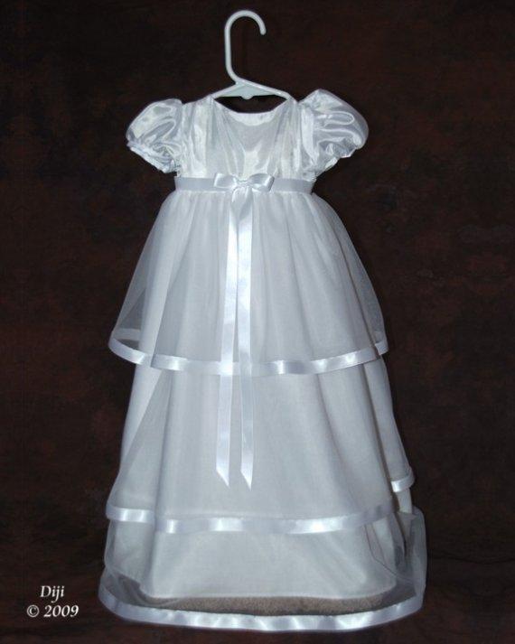 McKenna Handmade Christening Gown 3-6 Months