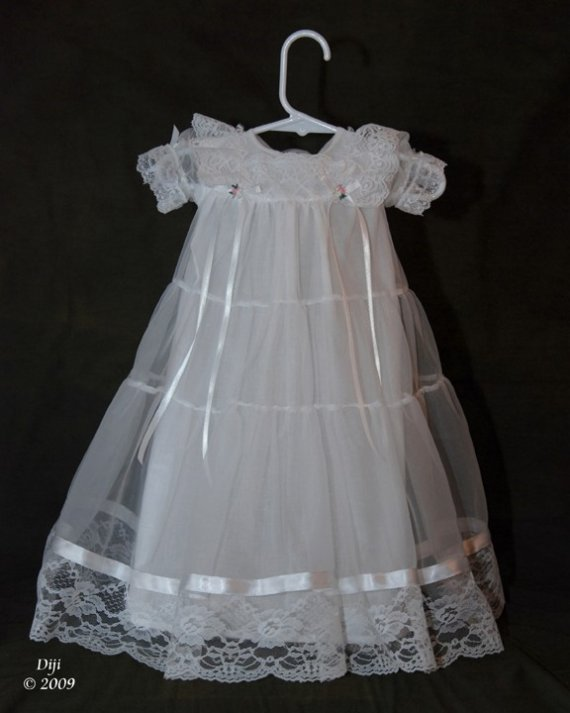 Lauren Handmade Christening  Gown 6-9 Months