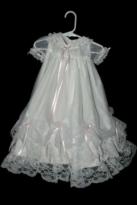 Mary Handmade Christening Gown 0-3 Months