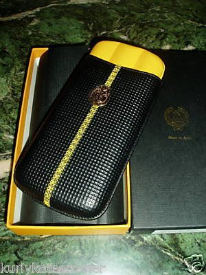 SWEET COHIBA SUBLIME LEATHER 3 FINGER CIGAR CASE
