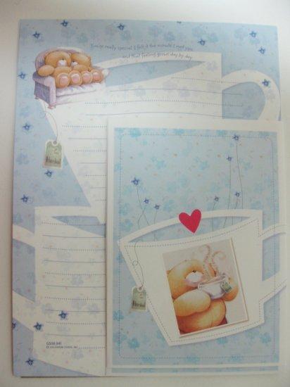 Cute Light Blue Forever Friends Hallmark Letter Set