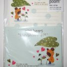 Cute Green Leaf Teddy Bear Letter Set