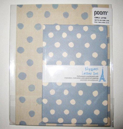 Blue Polkadot Letter Set