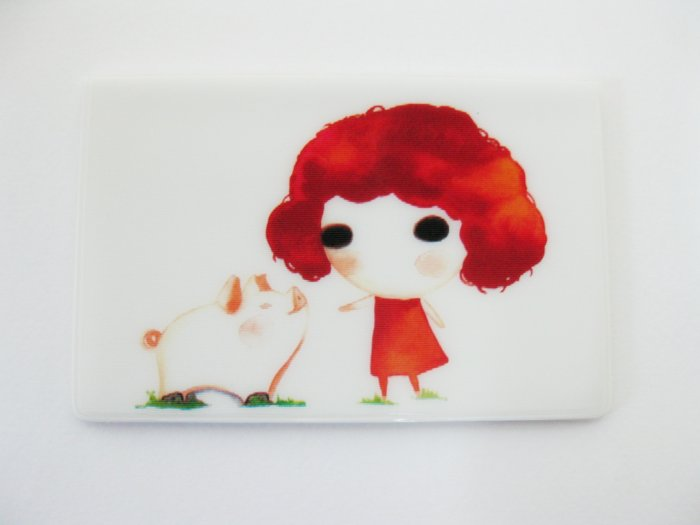 Red Girl Card Holder Case