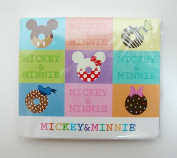 Mickey n Minnie Doughnut Memo Pad