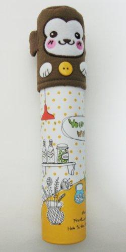 Cute Monkey Tube Pencil Case