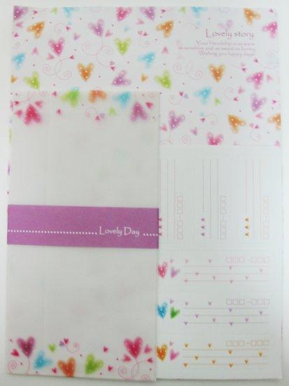 Lovely Colorful Heart Letter Set
