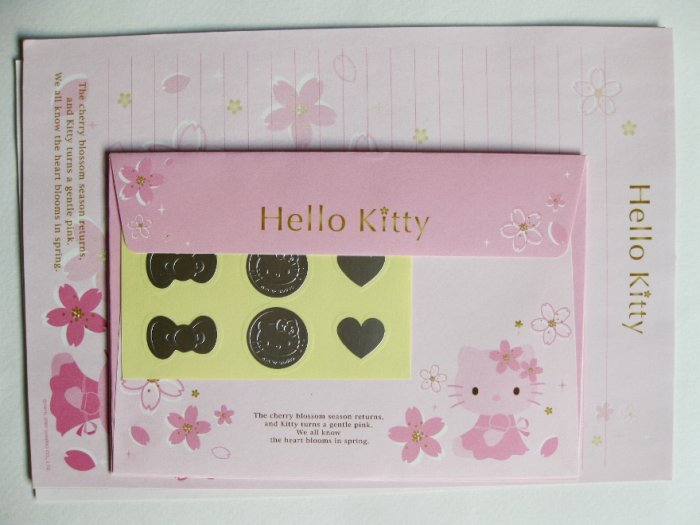 Cute Pink Hello Kitty Korea Letter Set