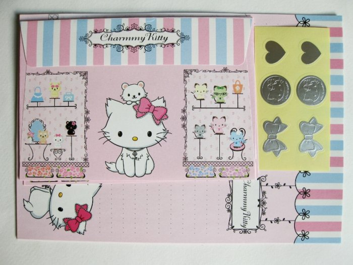 Cute Charmmy Kitty and Little Friend In Boutique Korea Letter Set