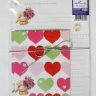Cute Colorful Hearts and Forever Friend Bear Letter Set