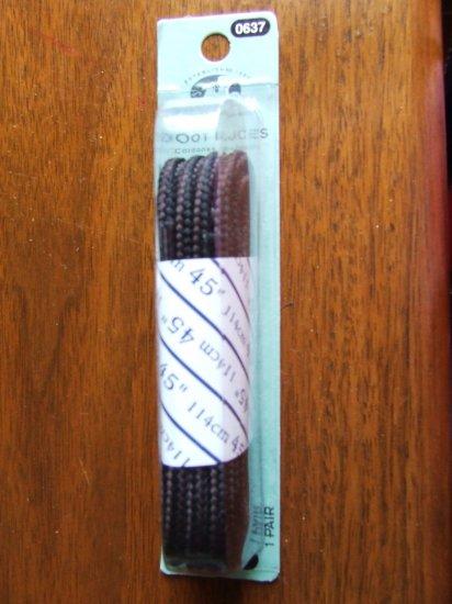 "Brown / Black 45"" Hiker Boot / Shoe Laces / Shoelaces (45 inch)"