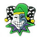 Mardi Gras Joker Shoe Charm, Set of 2, Free Shipping