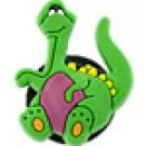 Green Dinosaur Shoe Charm Croc Decoration Set of 2, Free Shipping