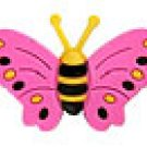 Pink Butterfly Shoe Charm Croc Decoration