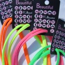 "Neon Shoelaces 45"" 114 CM - 4 pair- Neon Yellow, Neon Green, Neon Pink, Neon Orange Shoe Laces"