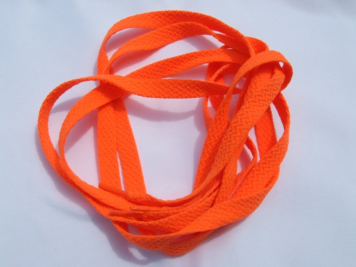 "45"" Neon Orange SHOELACES  Flat (45 inch)"