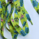 Spongebob Shoelaces Yellow Blue Patrick Star Wide