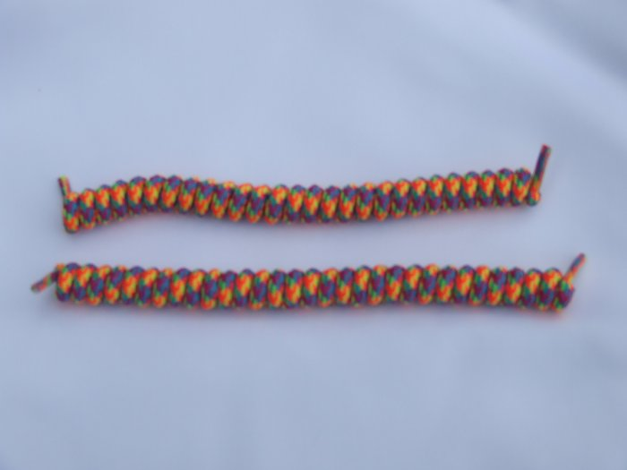 Rainbow Elastic Curly Shoelaces Elastic Stretch Curly Shoelaces - Spring Laces, Coilers, NO-TIE