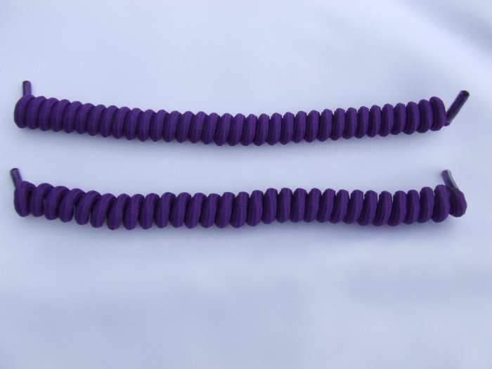 Purple Elastic Stretch Curly Shoelaces -  Coilers, Spring Laces