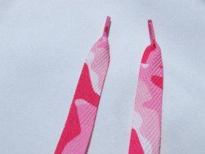 """Pink Shoelaces, Pink Leopard Print Shoelaces 47"""""""