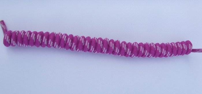 Rose Purple W/ White Curly Shoelaces $1.99 Coil Elastic Stretch Shoe Laces No Tie  Twisters Coilers
