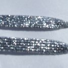 "Silver Glitter Shoelaces, Silver Metallic Shoelaces 43""  (43 inch)"