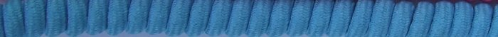 Turquoise / Teal Blue Curly Shoelaces Coil Elastic Stretch Shoe Laces No Tie Twisters Coilers
