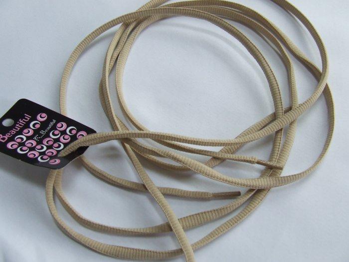 "45"" Khaki / Tan / Beige Shoelaces 114 cm(45 inch)"