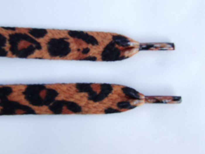 Black and Tan leopard animal print laces