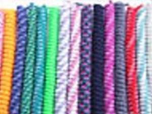 Red White and Blue No Tie Shoelaces - Curly Laces, Elastic Laces, Stretch Laces, Spring Lace