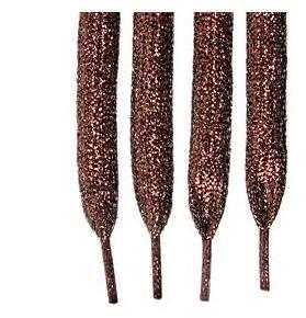 "Brown Glitter Shoelaces ~ Brown Glitter Shoelaces 47""  (47 inch)   Shimmering Metallic Shoelaces"