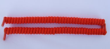 Orange Curly Shoelaces, Curly Laces, Spring Laces