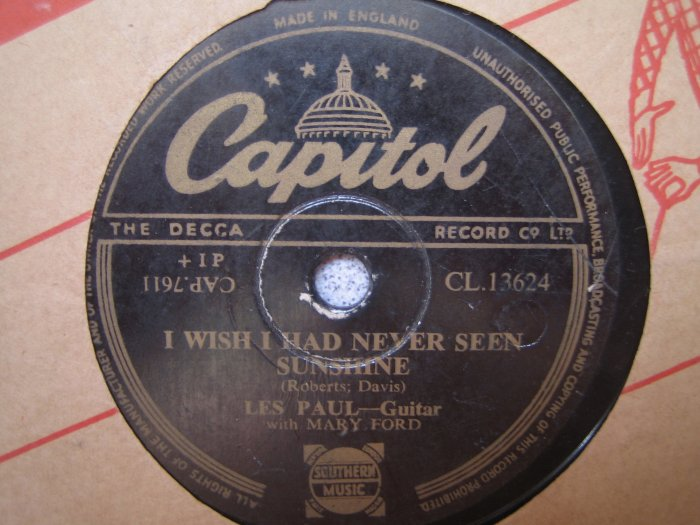 Les Paul 10in 78rpm  Single Capitol UK