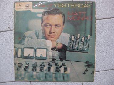 Matt Monroe Yesterday Parlo EMI 12in LP