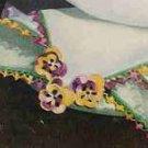 Pansy Handkerchief Edging Pattern