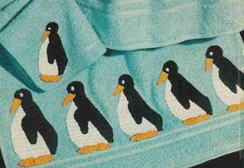 Penguin Bath Set Pattern