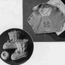 Baby Bib and Booties Pattern