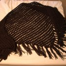 Black Evening Shawl With Fringe