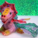 Handcrafted Original Art Sculpture Polymer Clay Dragon ITEM#PR0093