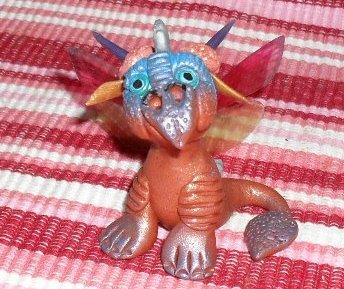 Handcrafted Original Art Sculpture Polymer Clay Dragon ITEM#PR00335