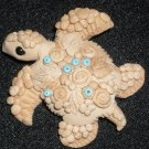 Handcrafted Original Art Sculpture Polymer Clay Jewelry Sea Turtle Brooch CR004