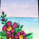 ACEO Original Art Card the size 3.5 inches by 2.5 inches of a trading card Title Seascape