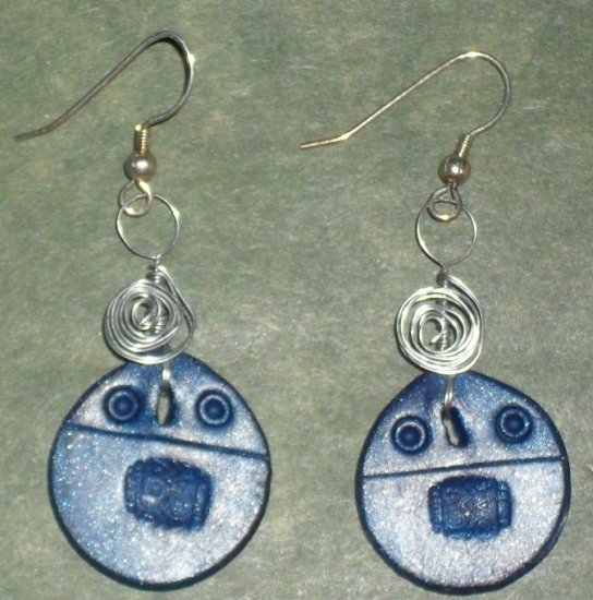 Handcrafted Original Wire Warped Art Earrings CR0089