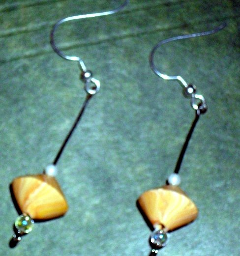 Handcrafted Original Art Earrings Jewelry CR00833
