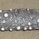 Handcrafted Original Art Tortoise Bar Barrettes Hair Accessories